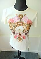 Juicy Couture NWT Ivory Iconic Embellished Tee Size Medium $78 Sold Out