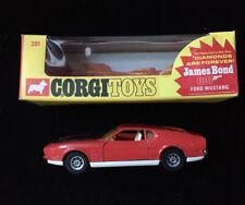 CORGI #391 JAMES BOND Diamonds Are Forever *HTF* ORIGINAL BOX Ford Mustang Mach1