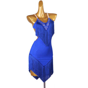 Hot! Ballroom Women's Latin Rumba Tango Salsa Samba Competition Dance Dress