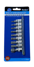9pc TORX STAR BIT SET 1/4 DRIVE STAR SOCKET SET WITH LIFETIME GUARANTEE  191