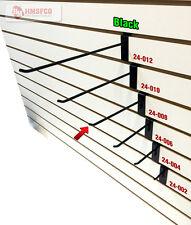 """8"""" Slatwall Metal Hooks (24-008BL) - 100 Piece - Black (NEW)"""