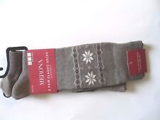 New 2 Pair Mens Classic Socks Cotton Comfort Taupe Shoe Size: 6-12