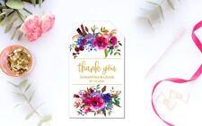 10 White Gift Tags Wedding Favour Bomboniere Personalised Thank You V2