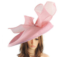 Dusky Pink  Large Ascot Hat for Weddings, Ascot, Derby B7