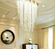 Modern Lights Crystal Chandeliers For Home Decoration Minimalist Oval Design New