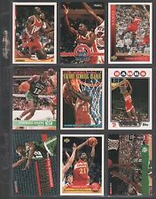 DOMINIQUE WILKINS ~ Lot of (9) Different Basketball Cards w/ Display Sheet ~ L11