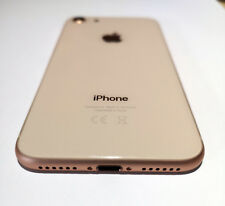 NEW IPHONE 8 REPLACEMENT BACK REAR HOUSING & FRAME BATTERY GOLD UK SELLER