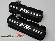 Big Block Chevy 396 Die Cast Aluminum Black Powder Coat Valve Covers