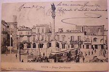 Cartolina LECCE - PIAZZA SANT'ORONZO  -  VIAGGIATA 1902 - 8/17