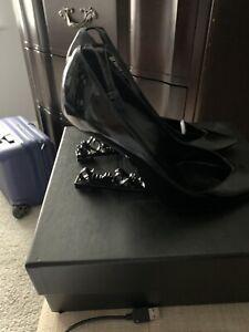 Saint Laurent Shoes  Black Heel Patent Leather Pumps