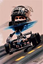 Damon Hill 79x53.5 cms limited edition F1 art print by Colin Carter