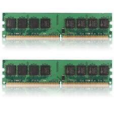 2GB (2x1GB) DDR2-533 PC2-4200 Non-ECC Desktop PC DIMM Memory RAM 240 pins