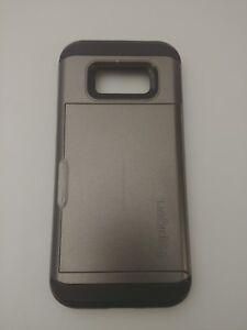Spigen S8 Shock Protection Wallet Case Gray/Black