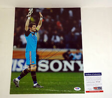 IKER CASILLAS 2014 SPAIN WORLD CUP SIGNED AUTOGRAPH 11X14 PHOTO PSA/DNA COA #5