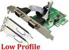 Low Half Profile PCI-express Serial Card 2 Ports PCI-E DB9 RS232 Com adapter