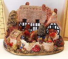 Rare Lilliput Lane Crendon Manor 1986 L/E 1299/1500- Signed - w/Box, Deeds, Coa