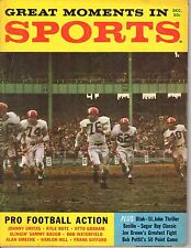 1959 Great Moments in Sports Football magazine, Lou Groza, Cleveland Browns~Fair