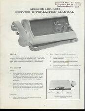 Original Factory EF Johnson Messenger 4250 CB Radio Service Manual