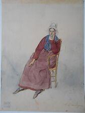 Amelie DAUBIGNY D'Aubigny geb. DAUTEL d'Autel Tracht Bretagne Femme bretonne