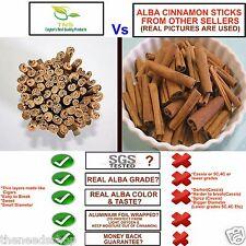 "TNS Ceylon TRUE CINNAMON ALBA GRADE 5"" CUT STICKS 500g CinnamomumZeylanicumVerum"
