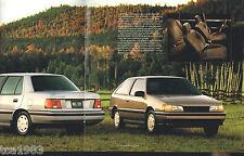 1991 HYUNDAI EXCEL / SONATA / SCOUPE Sales Brochure / Catalog: GS,GLS,GL,