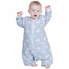 Baby Blue Baby Sleeping Bag Baby Sleep Sack Split Leg with Removable Sleeves