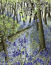 Painting by Number Kit The Woods In The Morning Purple Blossom Flower BB7317