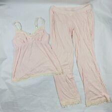 Maternity A Pea In The Pod Sleep Pajama Set Sz M Lace Detail EUC