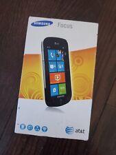 Samsung Focus SGH-I917 - 8GB - Black (Unlocked) Smartphone