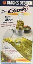 GIZMO Tip 'N Mix Black & Decker Salad Dressing Mixer NEW Mixes As You Pour