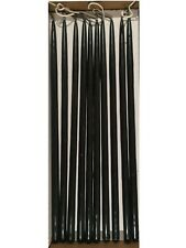 10 Thin Taper Candles 300mm Tall 11mm Wide BLACK !!!  All candles are bent  !!!!