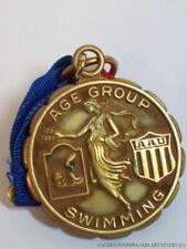 Vintage Amateur Athletic Union Medal & Ribbon AAU 1962 Swimming Free Style