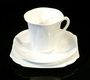 Beautiful Shelley Dainty White Coffee Cup Trio