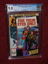 James Bond For Your Eyes Only #1 CGC 9.8    Marvel Movie Adaptation