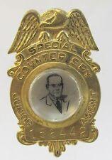 1949 COUNTER SPY JUNIOR AGENT Badge Pepsi Cola radio show premium HIGH GRADE