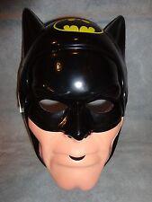 BLACK BATMAN HALLOWEEN MASK PVC CHILD SIZE
