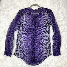 Equipment Lynn Silk Chiffon Blouse Purple Button Down Long Sleeve Top Size XS