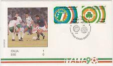 ITALIA - EIRE 1-0 - BUSTA UFFICIALE ITALIA 90 CALCIO MONDIALI