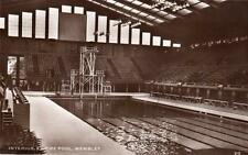 Interior Empire Swimming Pool Wembley Arena RP old pc used 1948