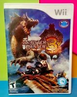Monster Hunter Tri Capcom  - Nintendo Wii / Wii U Game Tested Complete Manual