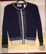 True Mark Best Authentic Women's Wool Zipper Front Size L Cardigan Sweater