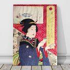 """Vintage Japanese Kabuki Art CANVAS PRINT 8x10"""" Geisha~ Kunichika #15"""