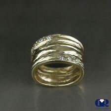 Handmade 0.20 Ct Diamond Anniversary Ring Right Hand Ring / Cocktail Ring 14KYG