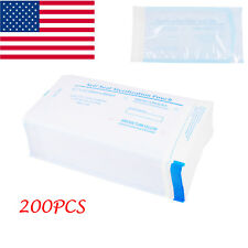 US 200PC Self Sealing Sterilization Pouch Bag Clear Blue Nail Tools 3.54