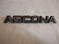 o1b Original Oldtimer Auto Emblem Typenschild alter Schriftzug Marke Opel ASCONA