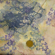 Hoffman Bali Handpaint 3326 102 Cream Batik 100% Cotton Fat Quarter