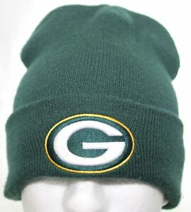 Vintage 1980s Green Bay Packers Beanie NFL Football Hat G.C.C. G Knit Winter Cap