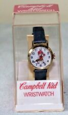 Vintage wind-up Criterion Campbell Kid Character Watch in Original Box  Unused