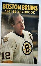 Vintage Hockey NHL 1981-82 BOSTON BRUINS Media Guide WAYNE CASHMAN Cover