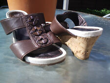 HOTTER BROWN LEATHER SANDALS.SIZE 3.HARDLY WORN.